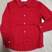 Рубашка из плотного коттона 8-9 лет.