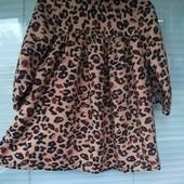 Классное леопардовое платье для модницы 3 лет