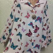 Королевский размер! Шикарная новая нарядная блуза рубашка Акция читайте