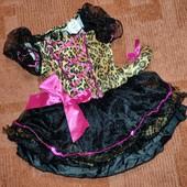 Красивое платье кошечки, ягуар, леопард, с хвостиком