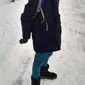 Фирменный теплюший пуховик на мальчика 152/158