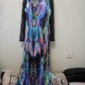 Шикарное новое яркое длинное платье с ажуром Акция читайте