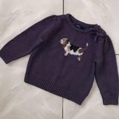 Стоп! С собачкой❤Классный фирменный плотный теплый свитер для для девочки,2 года❤море лотов!