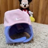 Фирменная флисовая шапочка-шлем на девочку