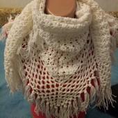 шарф бактус ажурный
