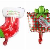 Новогодние фольгированные шарики, один на выбор, по ставке можно докупить.