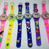 Наручные детские электронные часы тик так ( время и дата, секунды) , силиконовый браслет